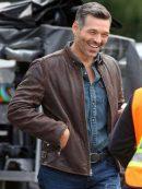 Take Two Eddie Cibrian Brown Leather Jacket