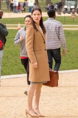 Jennifer Carpenter The Enemy Within Erica Shepherd Wool Coat