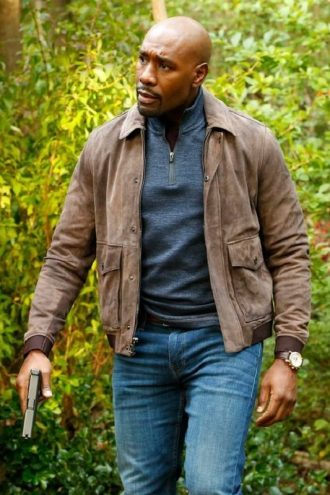 Morris Chestnut The Enemy Within Suede Leather Jacket