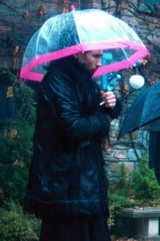 Robert Sheehan The Umbrella Academy Klaus Hargreeves Fur Trench Coat