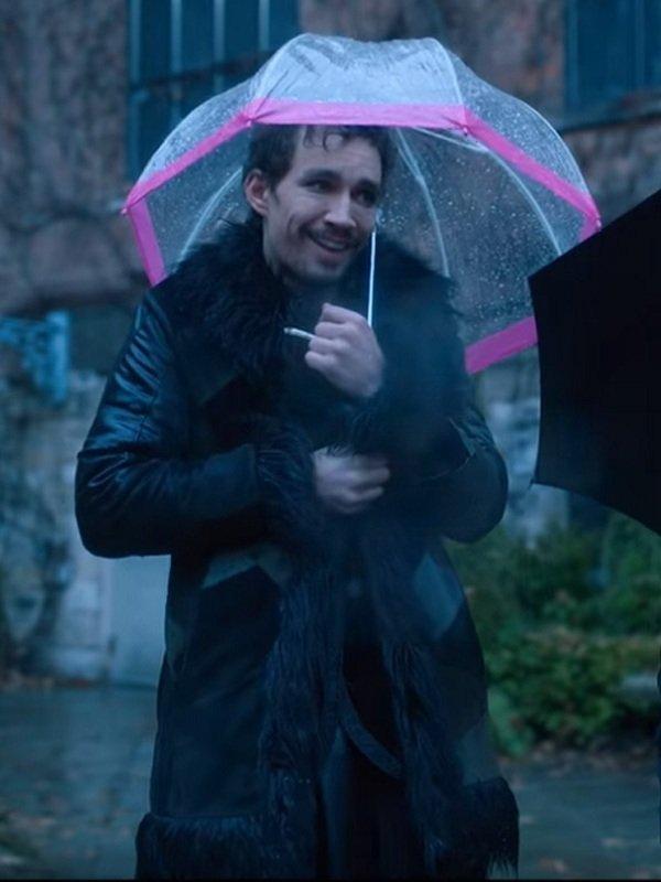 The Umbrella Academy Robert Sheehan Fur Coat Top Celebs Jackets