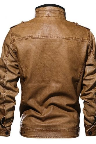 men's fashion, leather jacket