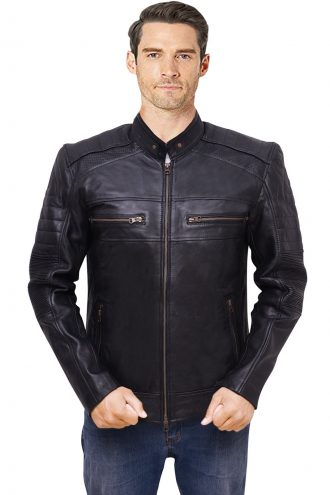 men's leather jacket, biker jacket
