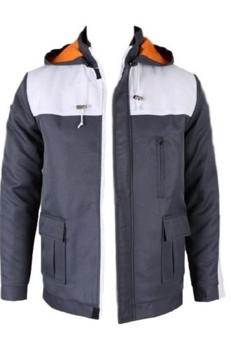 cotton Hooded, two flip pocket