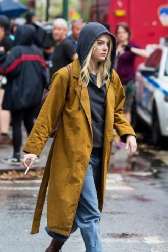 Emma Stone Trench coat, ladies coat