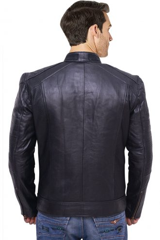 Lane Leather Jacket, two chest pocket.