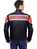 men's leather jacket, two chest pocket