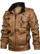 brown leather jacket,Leather Jacket