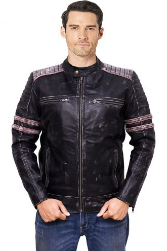 biker jacket, black leather jacket
