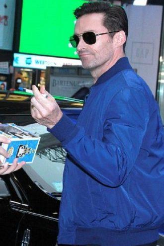Full-Length, blue jacket