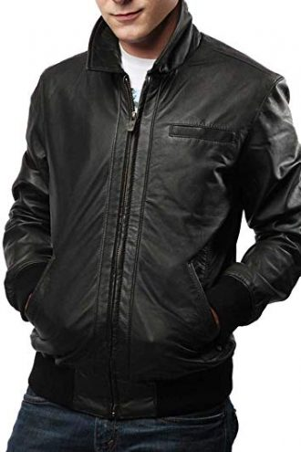 Men's Slim fit, leather jacket