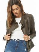 Women's fashion, Faux Leather Jacket