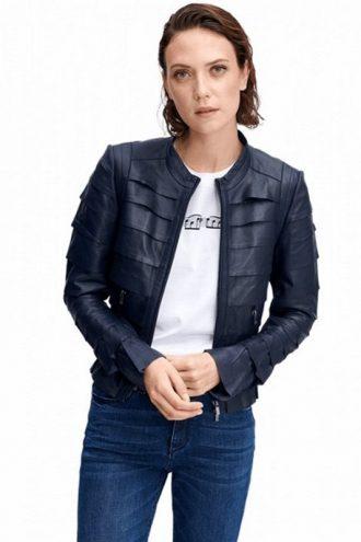 women's fashion, Deep blue Peplum design