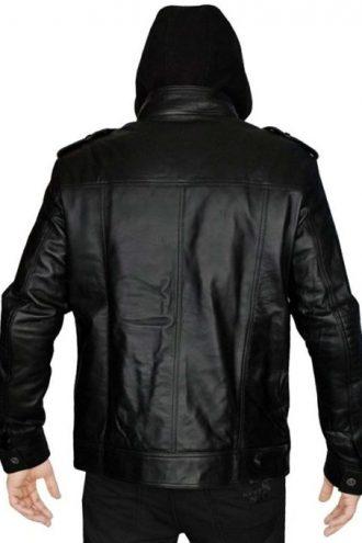 Leather Hoodie, AJ Style