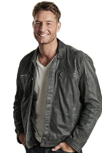 Justin Hartley This Is Us Black Leather Jacket