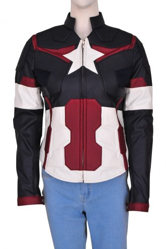 Captain America Costume Jacket For Women