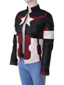 Captain America Cosplay Jacket For Women