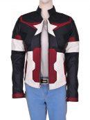 Avengers Age of Ultron Captain America Women Jacket