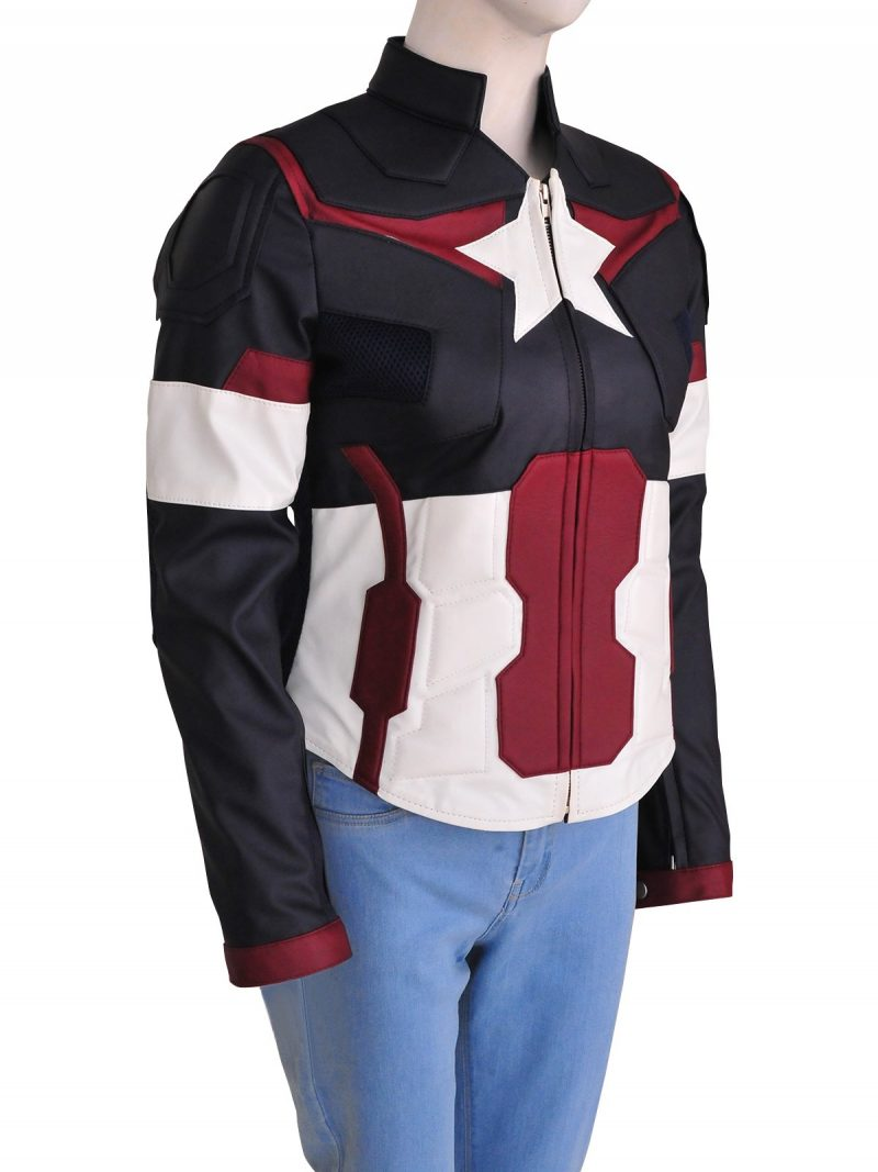 Avengers Age of Ultron Captain America Women Leather Jacket