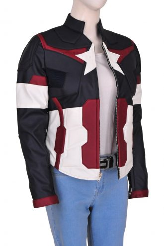 Avengers Age Of Ultron Captain America Jacket For Women