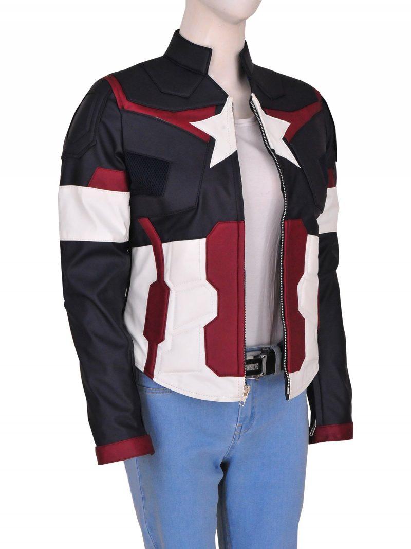 Avengers Age Of Ultron Captain America Jacket For Women