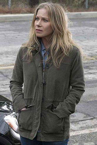 Dead to Me Jen Harding Green Cotton Jacket
