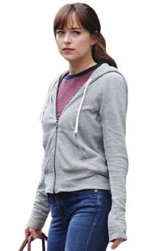 Anastasia Steele Fifty Shades Freed Dakota Johnson Grey Hoodie