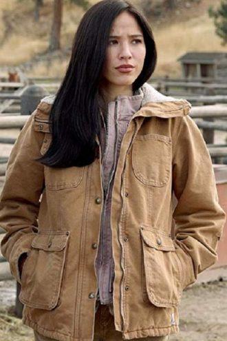 Kelsey Asbille Monica Dutton Yellowstone Jacket