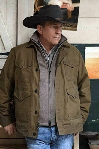 Kevin Costner John Dutton Yellowstone Season2 Jacket