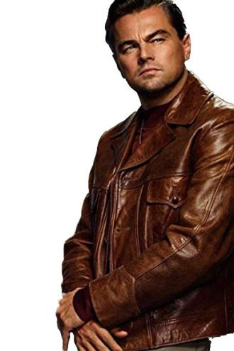 Leonardo DiCaprio Brown Jacket in Once Upon a Time in Hollywood 2019