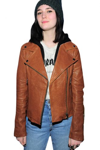 Always Sidney Flanigan Brown Leather Jacket