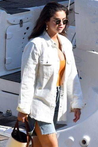 Vacation Style Selena Gomez Cotton Jacket