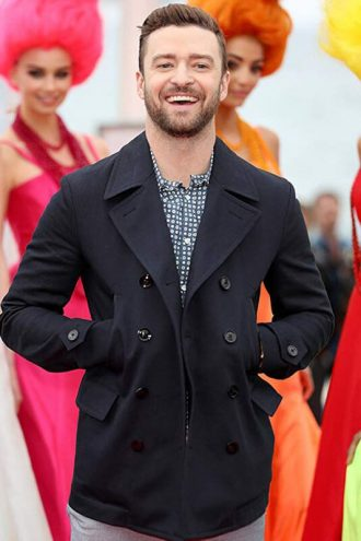Justin Timberlake Double Breasted Wool Jacket