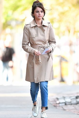 Selena Gomez Elegant Stylish Coat