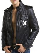 Montana Lucife Pops Black Leather Jacket