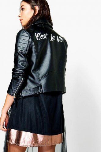 Thats life Black Leather Jacket