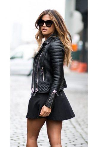 Black-Slim-Fit-Biker-Diamond-Quilted-Kay-Michaels-Leather-Jacket