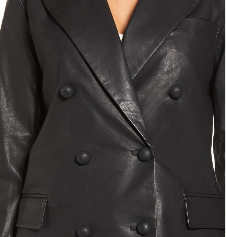 Black Trendy Blazer leather Jacket