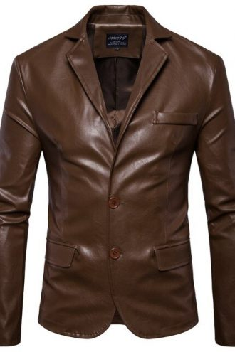 Brown-Leather-Blazer-For-Men
