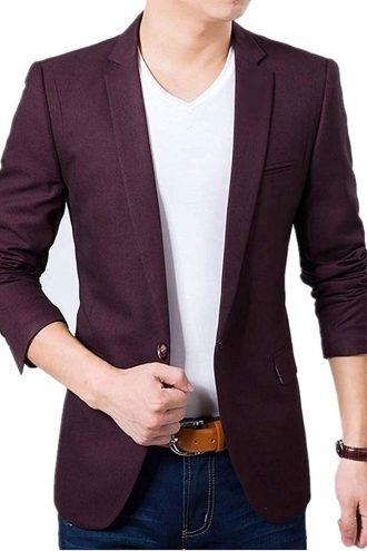 Creative Men's Slim Fit Cotton Blazer