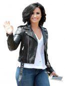 Demi-Lovato-Black-Leather-jacket-jacket