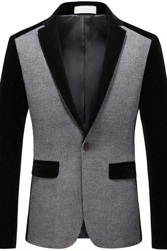 Trendy Singer Button Wool Blazer