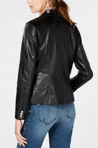 Women-Black-Leather-Blazers