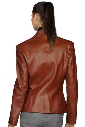 Trendy Brown Slim Fit Women Blazer