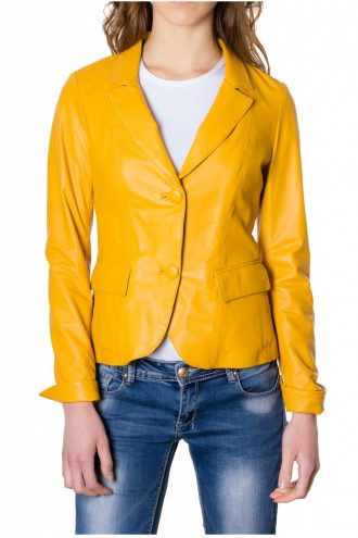 women Leather Blazer