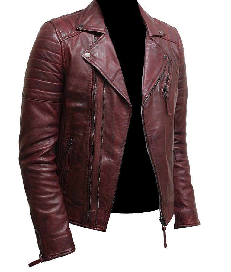 Mens-Burgundy-Color-Biker-Style-Leather-Jacket