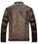 Mens-Brown-Destress-Waxed-Biker-Leather-Jacket