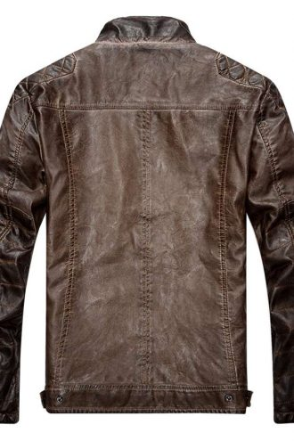 Mens-Brown-Destress-Waxed-Biker-Leather-Jacket