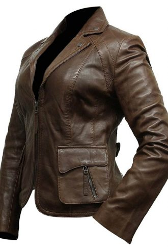 Womens-Brown-Leather-Blazer-Cut-Motorcycle-Jacket