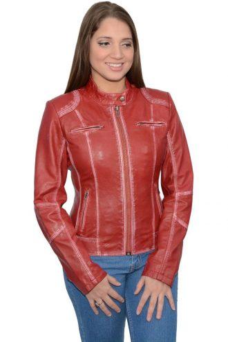 Angelina Jolie Sheepskin Leather Motorcycle Jacket